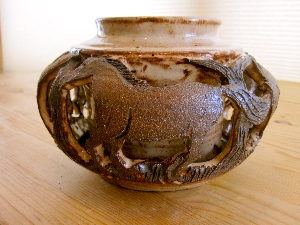 Double-walled Horse Vase